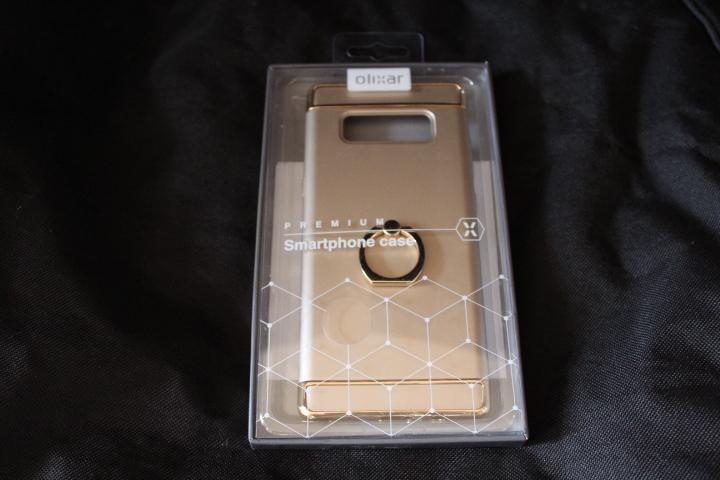 Test Coque Samsung Galaxy Note 8 Olixar X-Ring Finger Loop 1