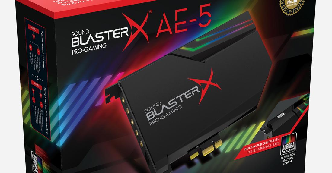 carte son Creative sound blasterX AE-5 screen