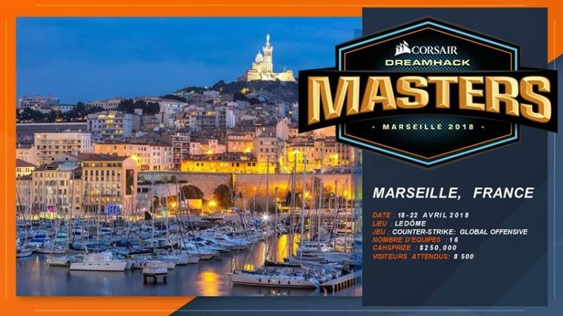 DreamHack Masters CORSAIR Marseille billet4