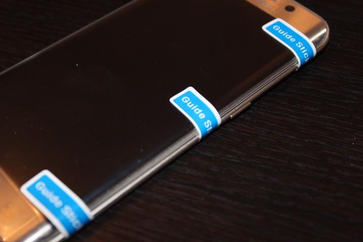 Test Protection d'écran incurvée Samsung Galaxy S6 Edge, Verre Trempé givrée5