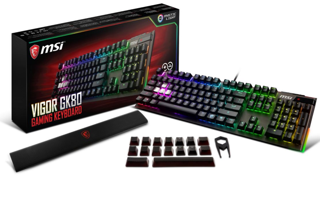 clavier gaming vigor GK80 MSI