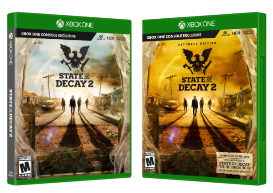 éditions ultime et standard state of decay 2 pc xbox one