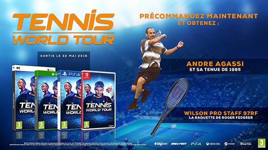 tennis world tour bonus précommande xbox one switch ps4 pc