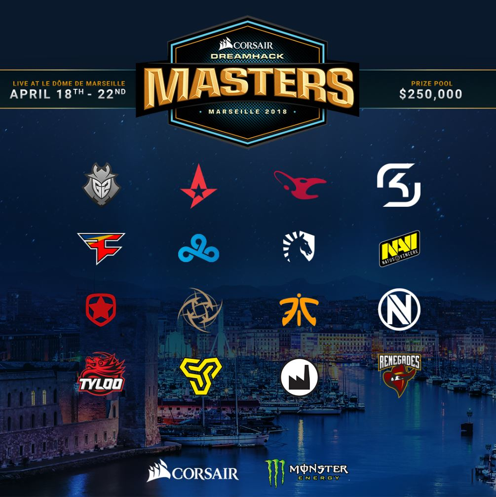 dreamhack masters marseille équipes