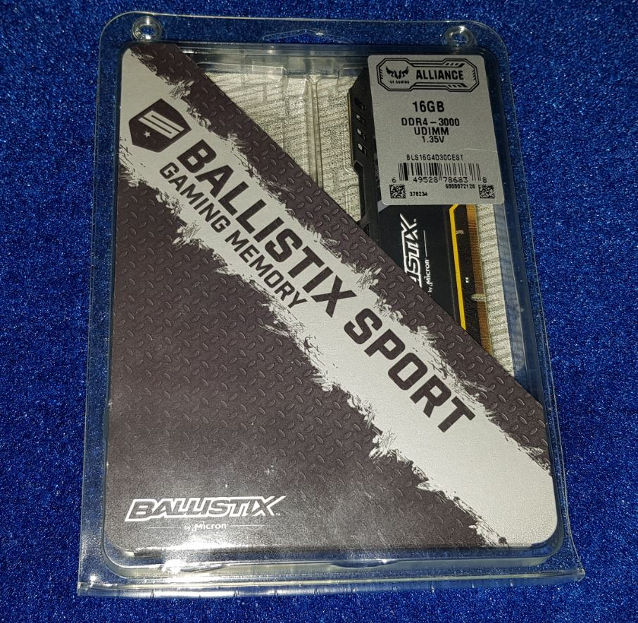 Test Ballistix Sport AT 16go 3000mhz
