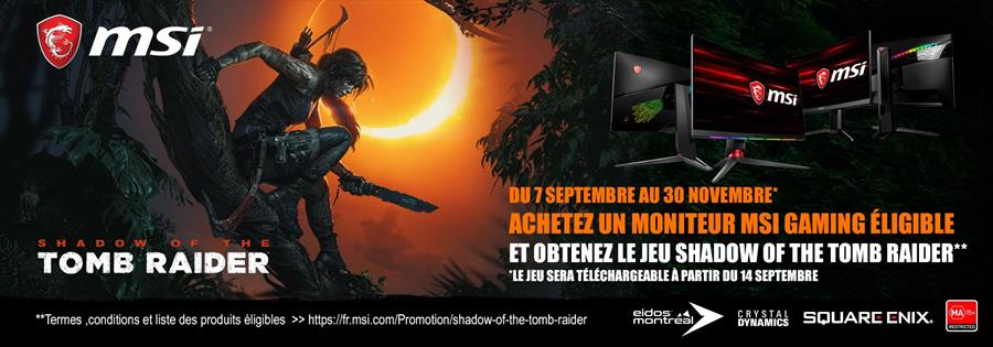 MSI shadow of the Tomb Raider