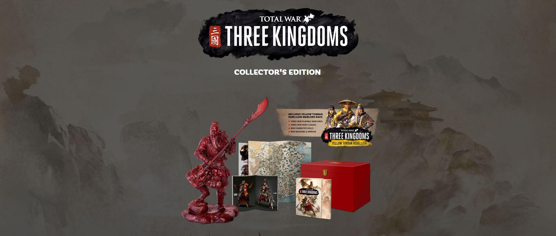 Toal War three Kingdoms collector's edition preorder